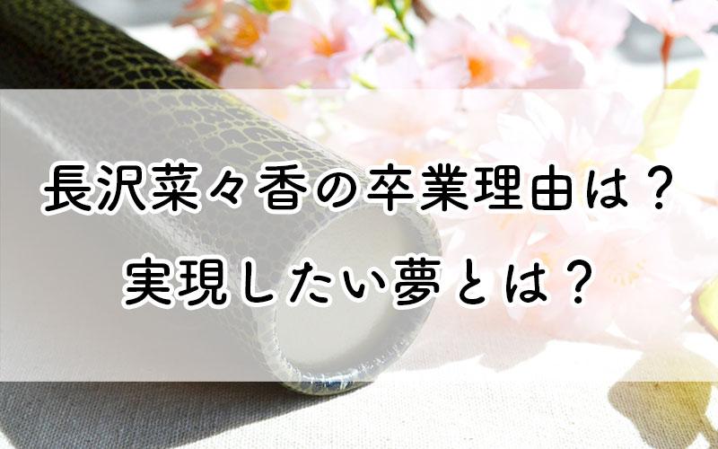 長澤菜々香卒業理由