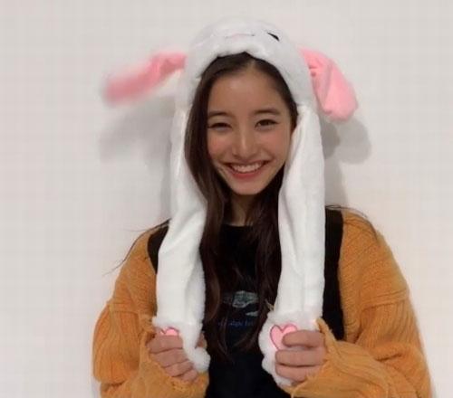 深田恭子うさぎ帽子